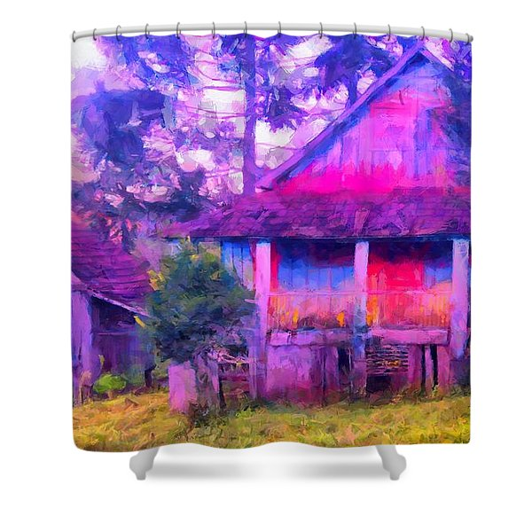 Plank Homes Shower Curtain