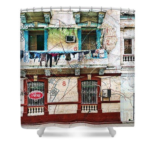Plano De La Habana Shower Curtain