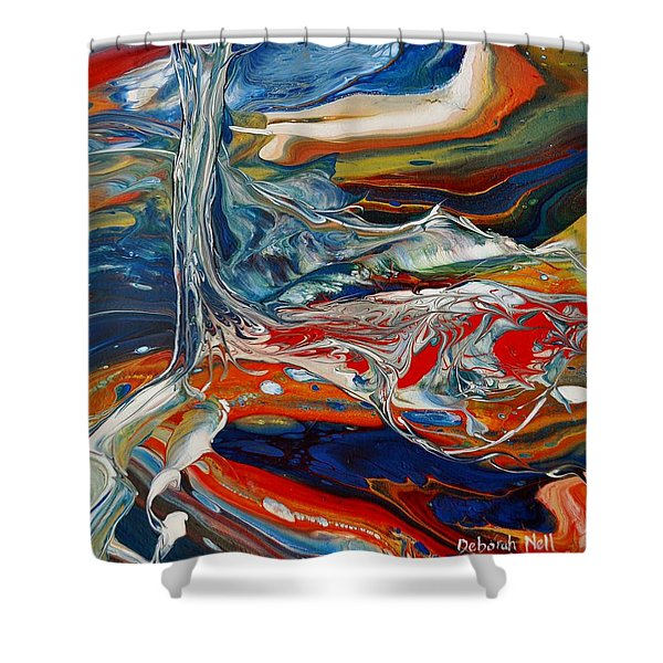 Shower Curtain featuring the painting Planted By The Waters by Deborah Nell
