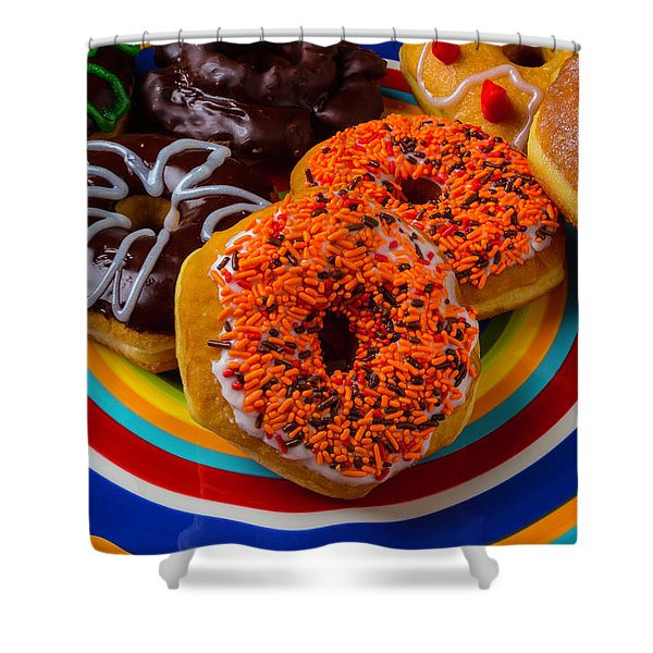 Plate Of Donuts Shower Curtain