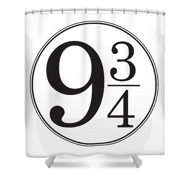Platform Nine And Three Quarters - Harry Potter Wall Art Shower Curtain
