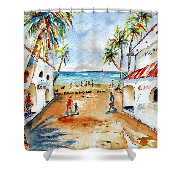 Playa Del Carmen Shower Curtain