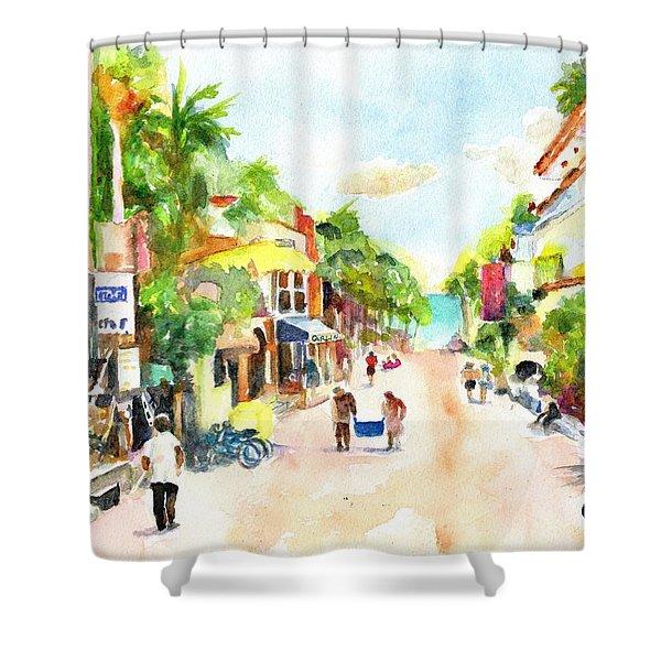 Playa Del Carmen Mexico Shops Shower Curtain