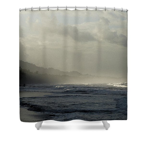 Playa Negra Beach At Sunset In Costa Rica Shower Curtain