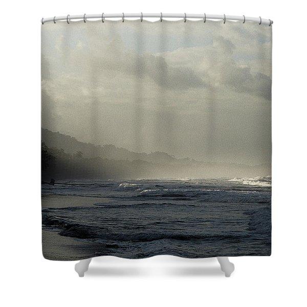 Playa Negra Beach At Sunset In Costa Rica Shower Curtain