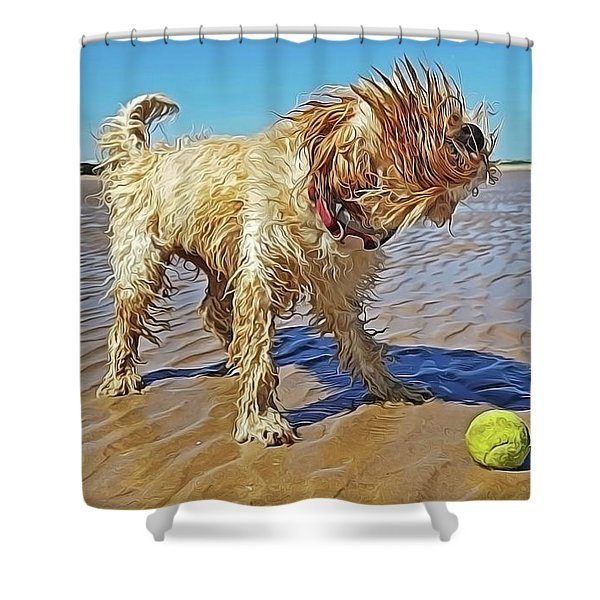 Playful Puppy Shower Curtain