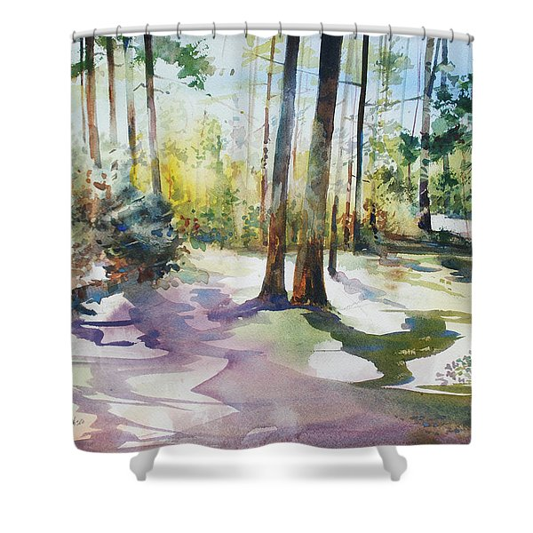 Playful Shadows Shower Curtain