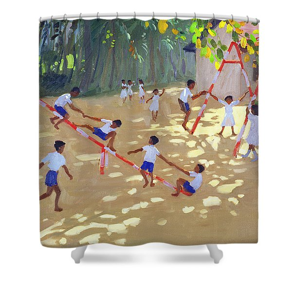 Playground Sri Lanka Shower Curtain