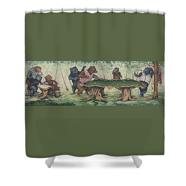 Playing Games Shower Curtain