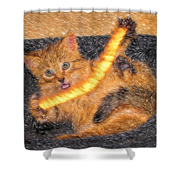 Playing With Fire Shower Curtain