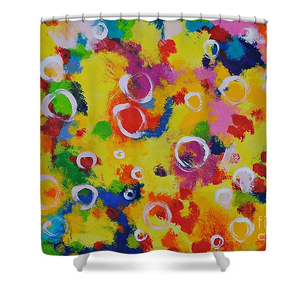 Playing With Soap Shower Curtain