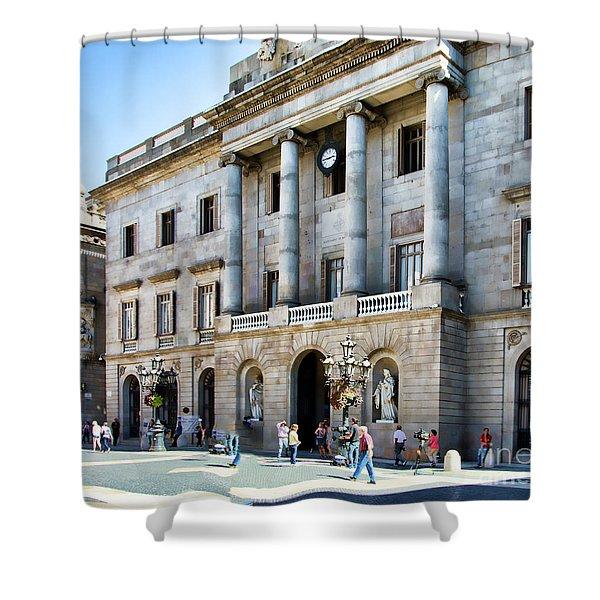 Plaza De Catalunya Barcelona  Shower Curtain