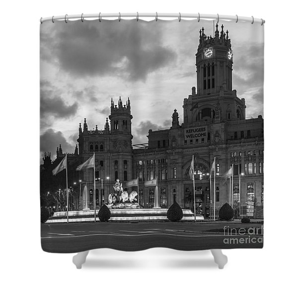 Plaza De Cibeles Fountain Madrid Spain Shower Curtain