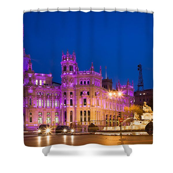 Plaza De Cibeles In Madrid Shower Curtain