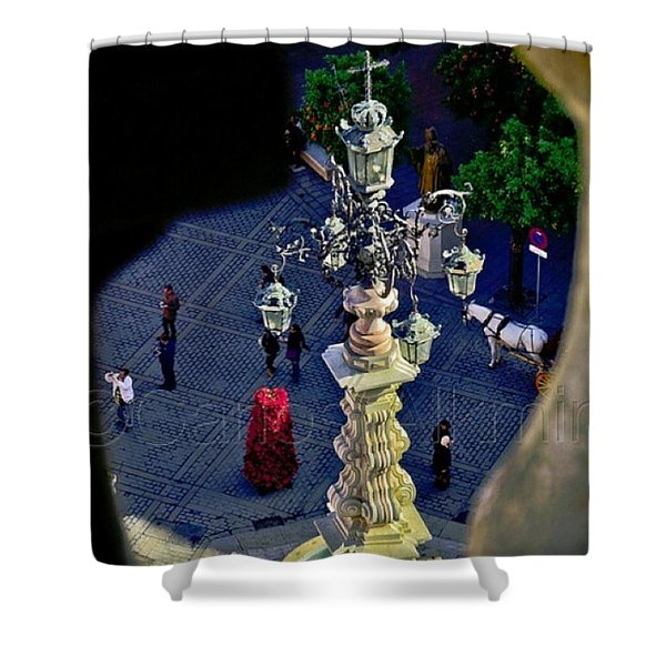 Plaza Del Trunfo - View From La Giralda Shower Curtain
