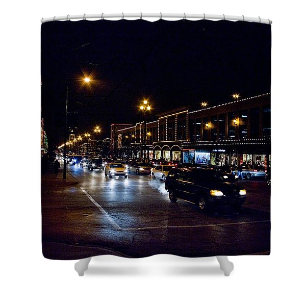 Plaza Lights Shower Curtain