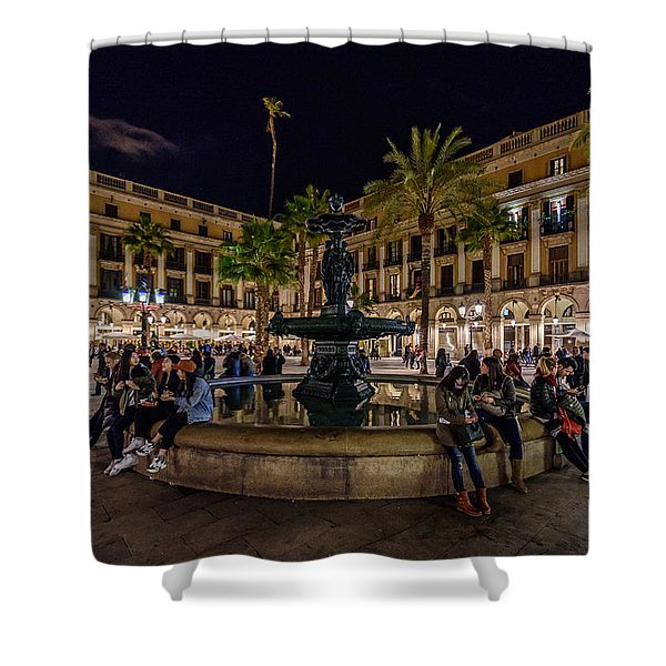 Plaza Reial Shower Curtain
