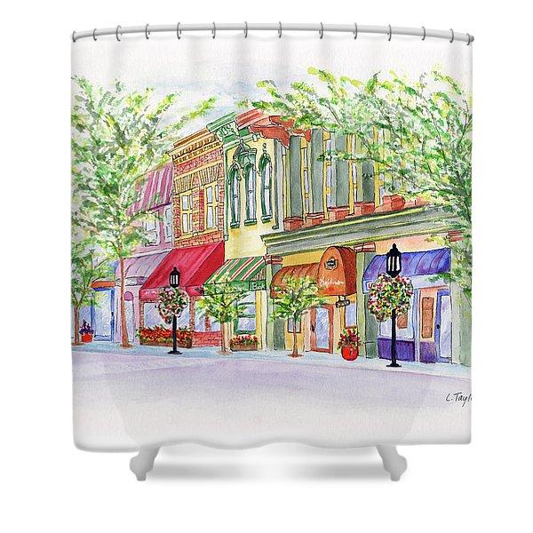 Plaza Shops Shower Curtain