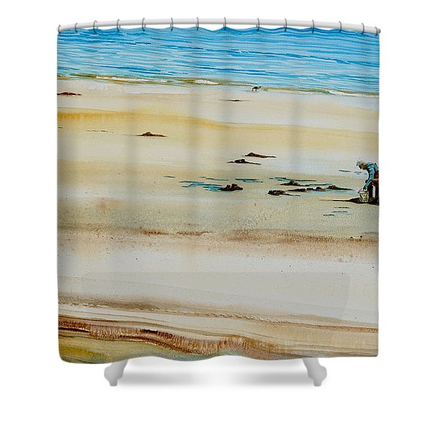 Pleasant Bay Clammer Shower Curtain