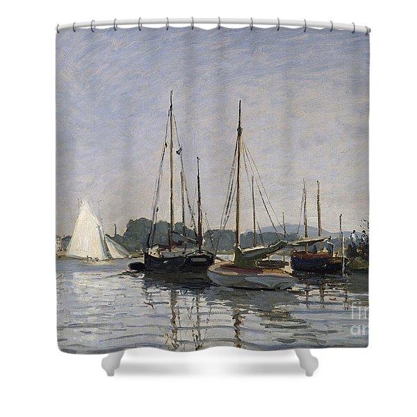 Pleasure Boats Argenteuil Shower Curtain