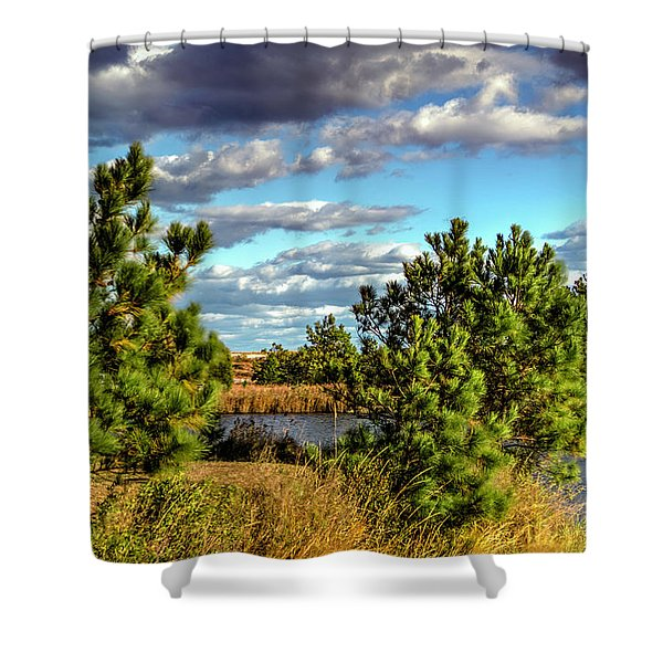 Pleasure House Point Natural Area  Shower Curtain