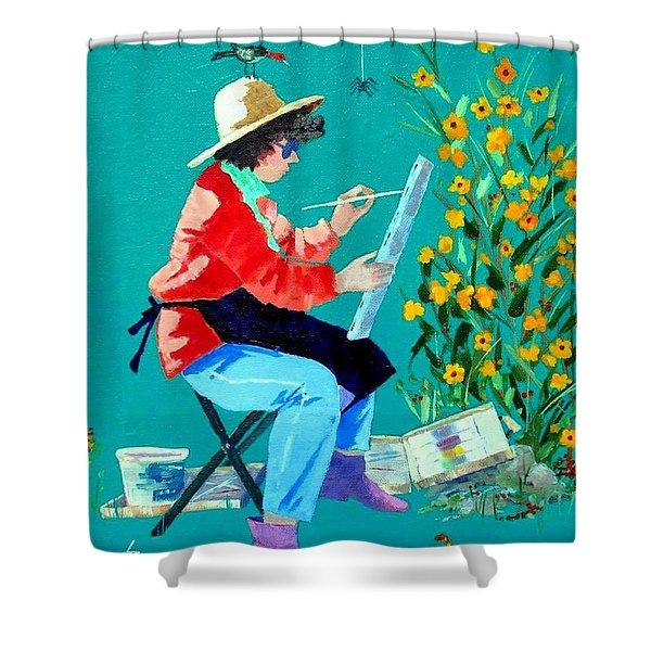 Plein Air Painter  Shower Curtain