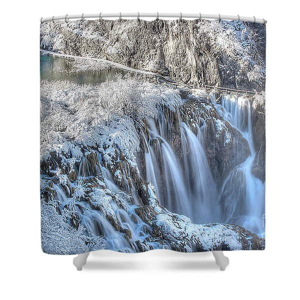 Plitvice Winter Shower Curtain