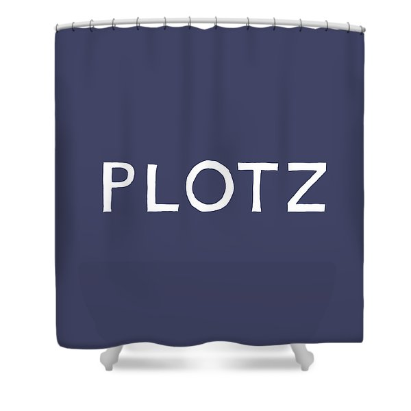 Plotz In Navy And White- Art By Linda Woods Shower Curtain
