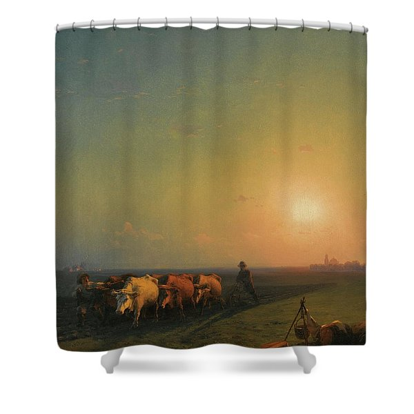 Ploughing The Fields, Crimea Shower Curtain