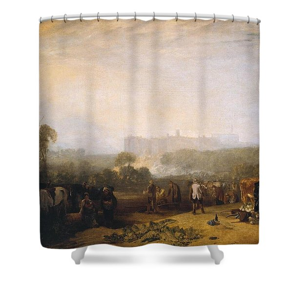 Ploughing Up Turnips Shower Curtain