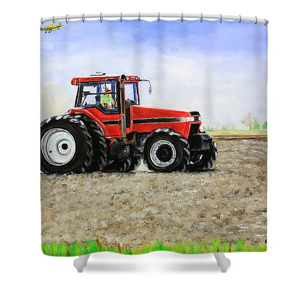 Plowing The Field Shower Curtain