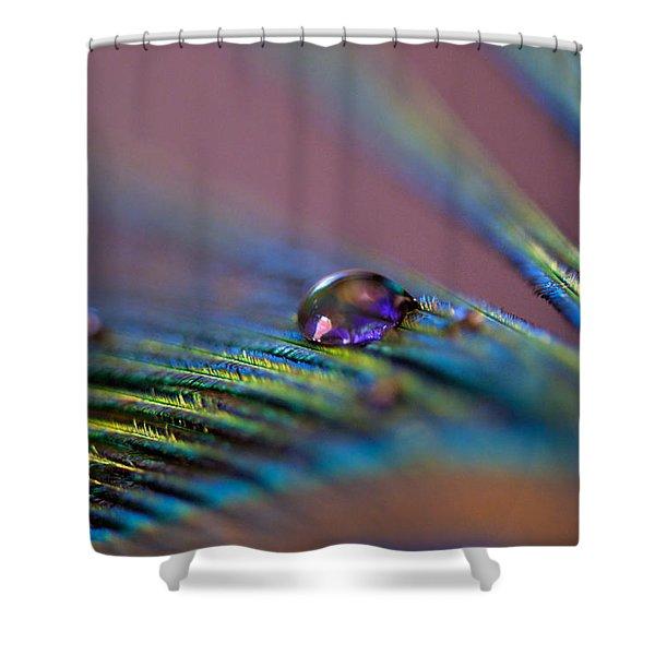 Plum Heart Shower Curtain