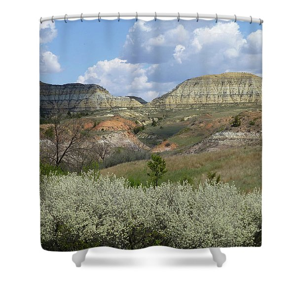 Shower Curtain featuring the photograph Plum Thicket Near The Burning Coal Vein by Cris Fulton