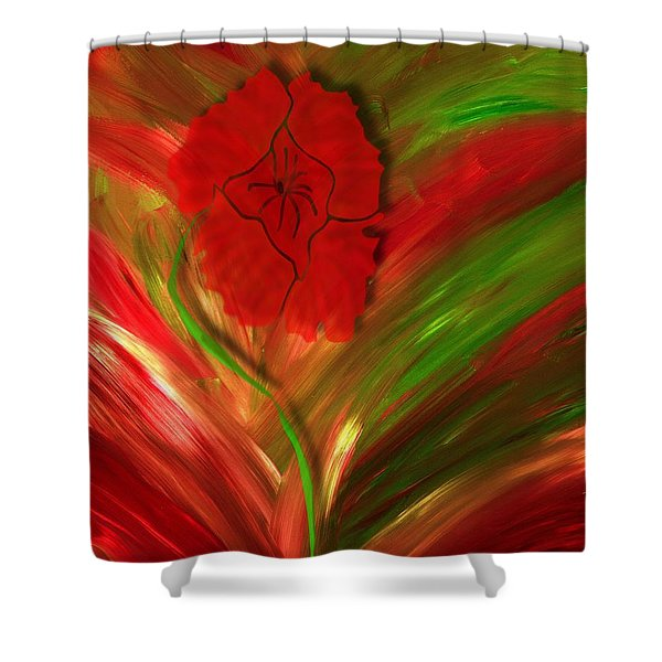 Plume Of Remembrance Shower Curtain