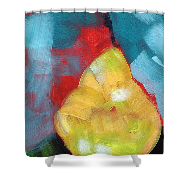 Plump Pear- Art By Linda Woods Shower Curtain
