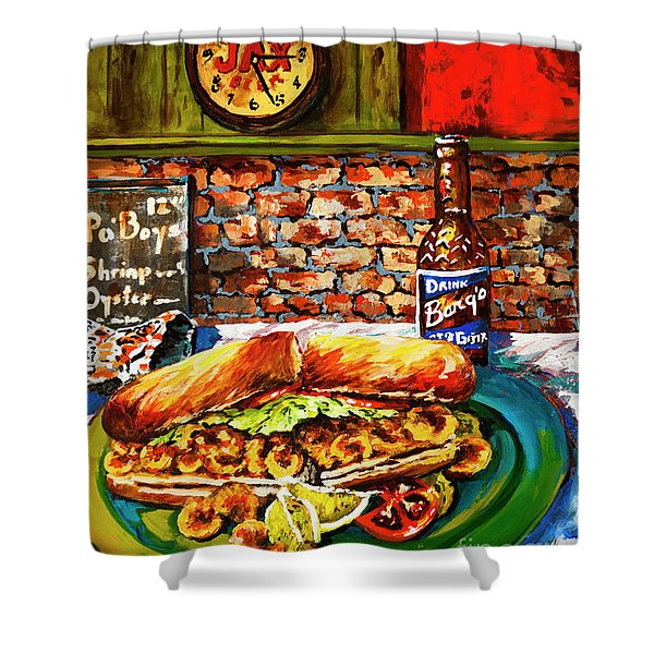 Po'boy Time Shower Curtain
