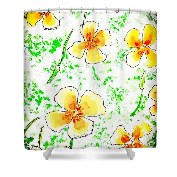 Pocket Full Of Poppies Shower Curtain