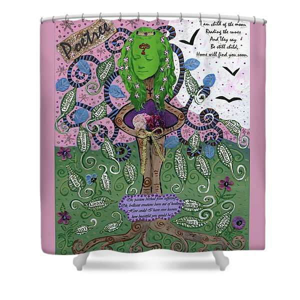 Poetree Shower Curtain
