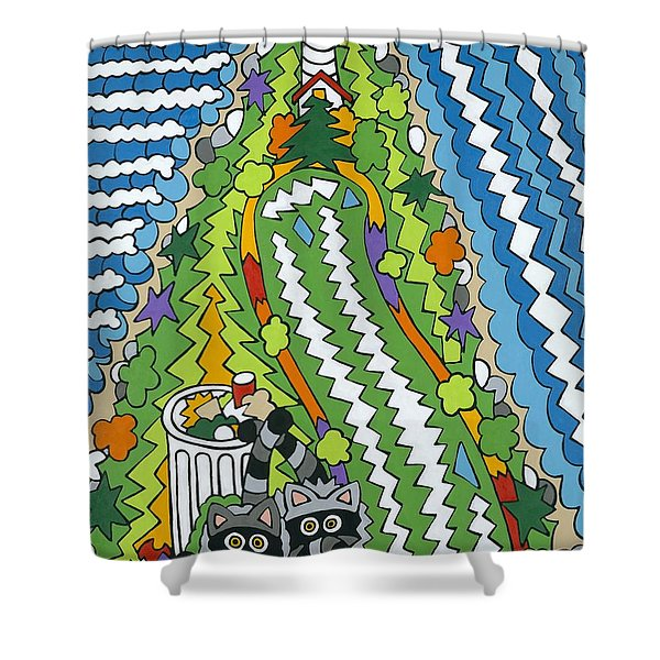 Point Arena Lighthouse Shower Curtain