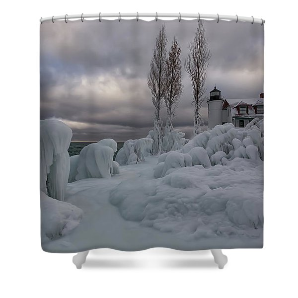 Shower Curtain featuring the photograph Point Betsie 10 by Heather Kenward
