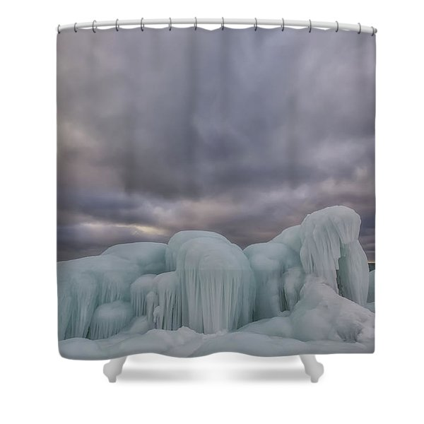 Shower Curtain featuring the photograph Point Betsie 11 by Heather Kenward