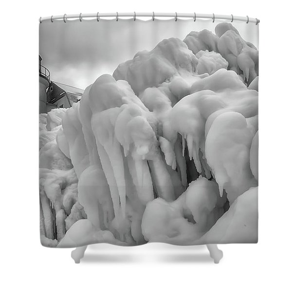 Shower Curtain featuring the photograph Point Betsie 7 by Heather Kenward