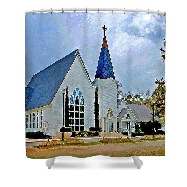 Point Clear Alabama St. Francis Church Shower Curtain