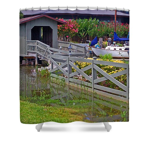 Point Clear Bridge At Grand Hotel Shower Curtain