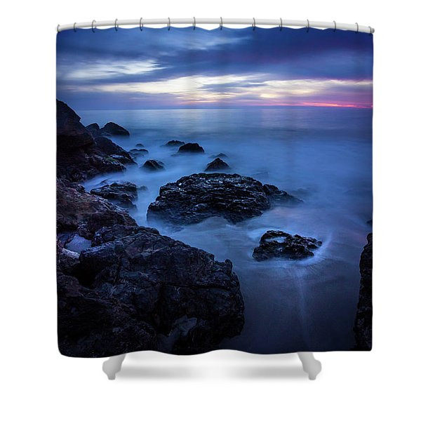 Point Dume Rock Formations Shower Curtain