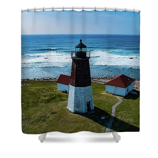 Point Judith Lighthouse Shower Curtain