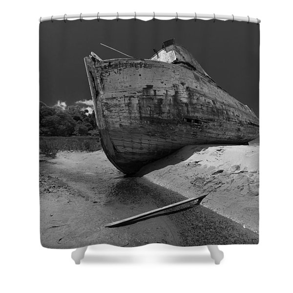 Point Reyes Boat Shower Curtain
