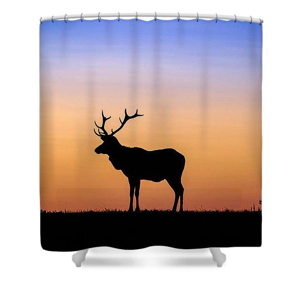 Point Reyes Elk Shower Curtain