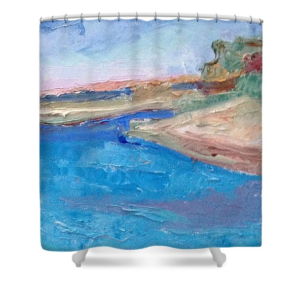 Point San Pablo Shower Curtain