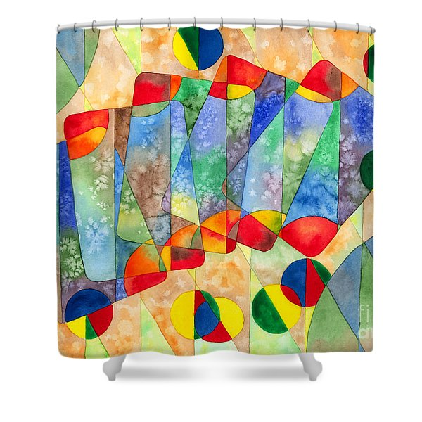 Poker Abstract Watercolor Shower Curtain